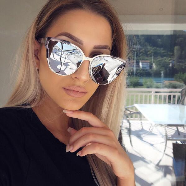 HTB15ZG3RVXXXXbeXVXXq6xXFXXXh - Women Cat Eye Luxury Fashion Designer Mirror Sunglasses