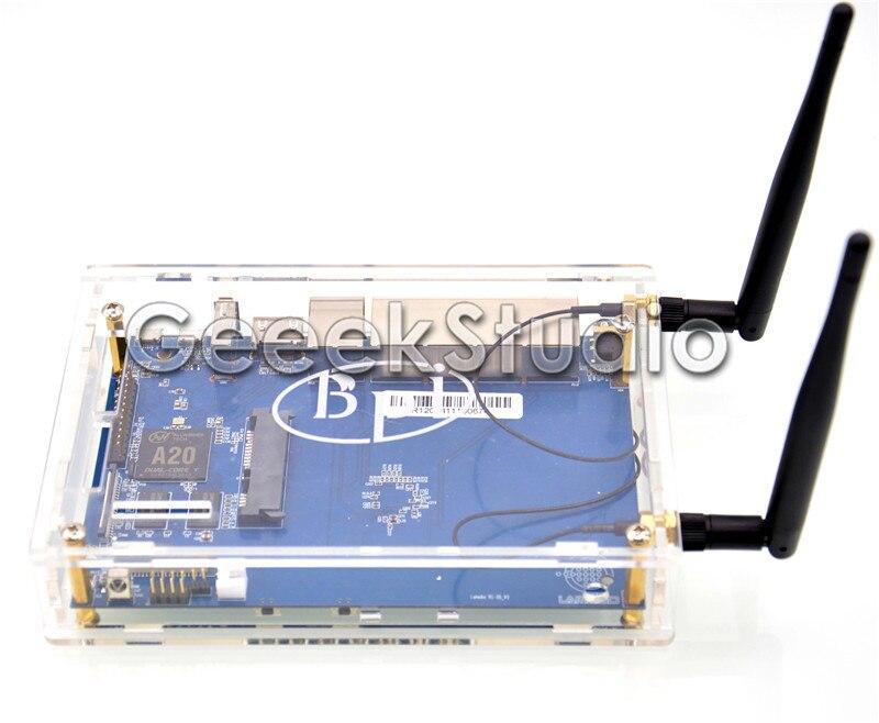 все цены на Banana Pi R1 BPI-R1 Smart Home Open-Source Wireless Router + 2*3dB Antenna + Transparent Acrylic Case Enclosure онлайн