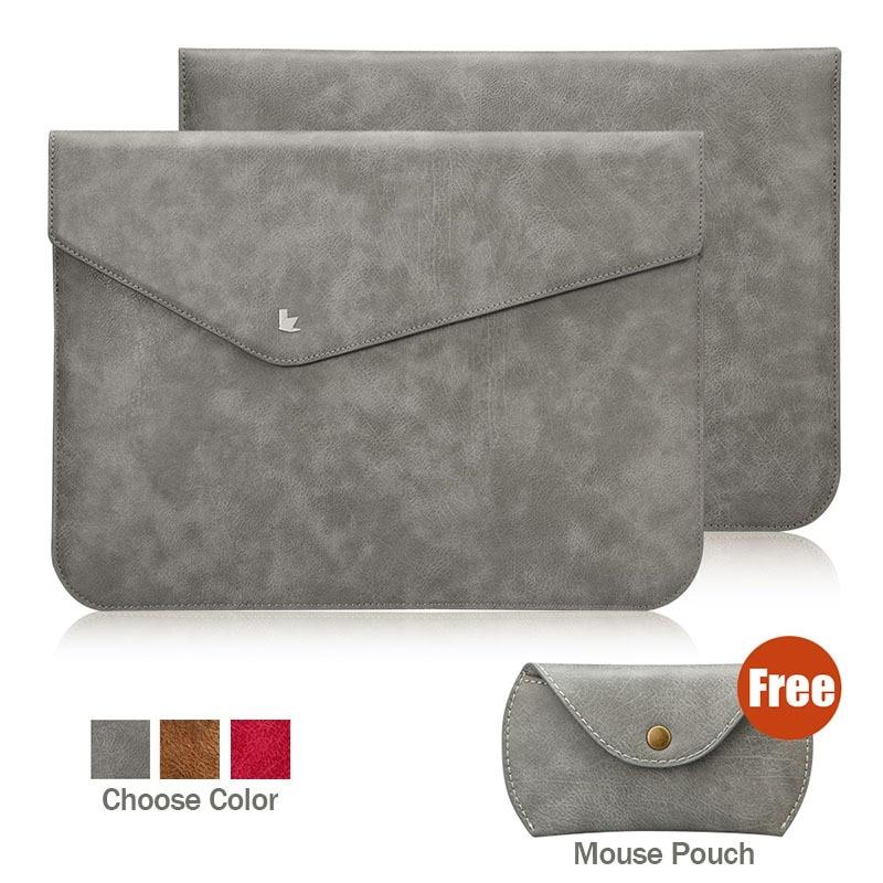 Prix pour Jisoncase pour macbook air pro retina 13 sac en cuir protection manches de luxe ultra mince d'affaires ordinateur portable sac sacs & cas