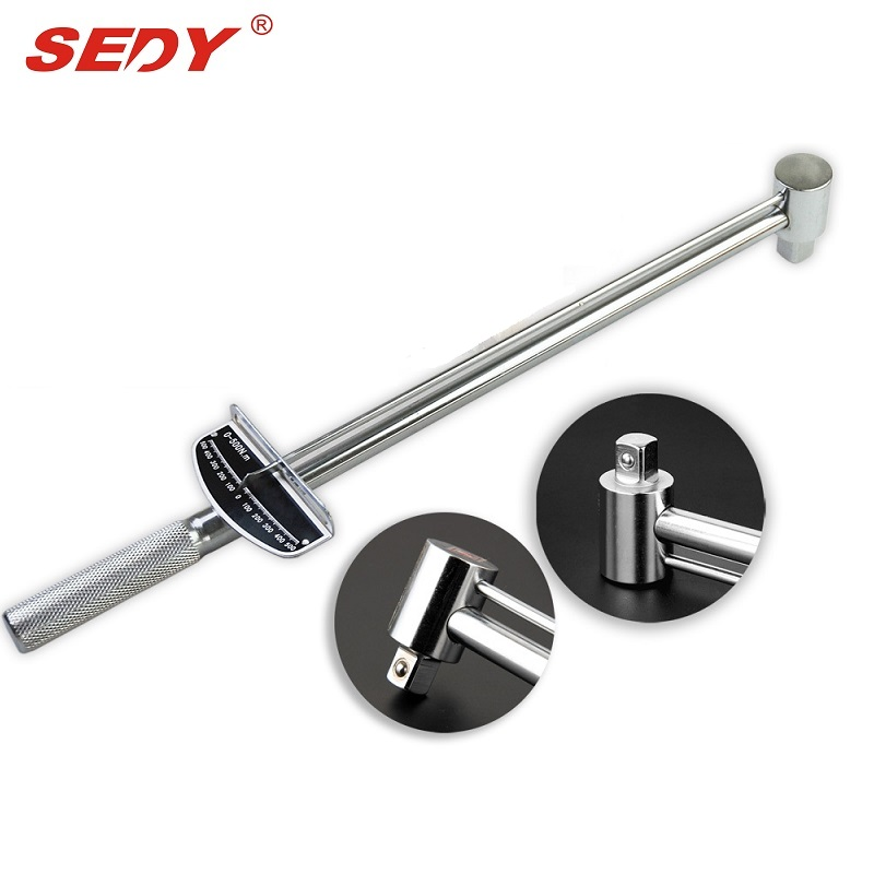 Sedy Heavy Duty 1/2 Drive Torque Wrench 0-300N.m CR-V Chrome Vanadium Ratchet Hand tool Alloy Professional Tool yofe double ratchet spanner wrench canvas bag 8pcs set tool gear ring wrench ratchet handle chrome vanadium wrench hand tools