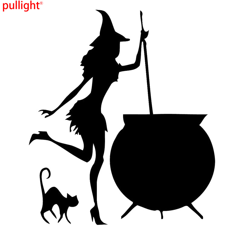Witch Cauldron Potion Decor <font><b>Stickers</b></font> Marathon Runners <font><b>Motorcycle</b></font> Vinyl Decals image