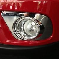 4pcs Fog light Bumper Trims Set Kit Chrome Front+ Rear Lamp Bumper High quality