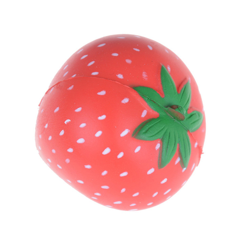 ABWE Best Sale Cute Squishy Strawberry Scented Slow Rising Stress Relief Kids Squeeze Toy