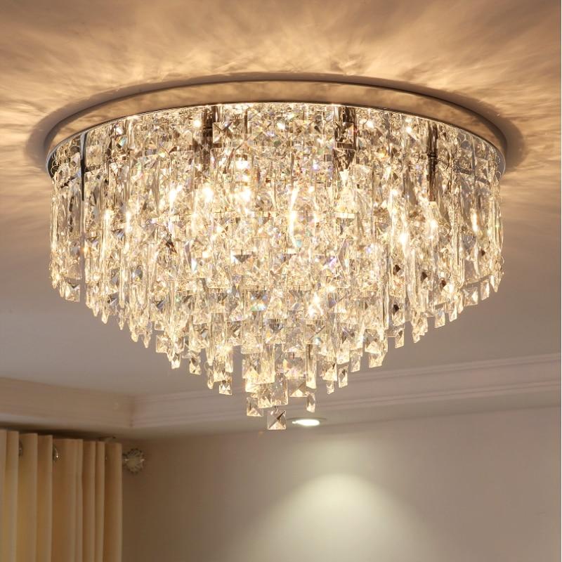Современный хрустальный светильник круглый потолочный светильник спальня лампа креативный ресторан лампа атмосфера домашняя гостиная по