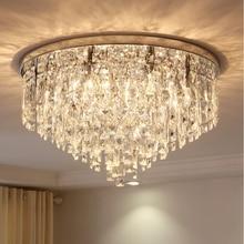 Modern crystal lamp round ceiling lamp bedroom lamp creative restaurant lamp atmosphere home living room Ceiling Lights стоимость