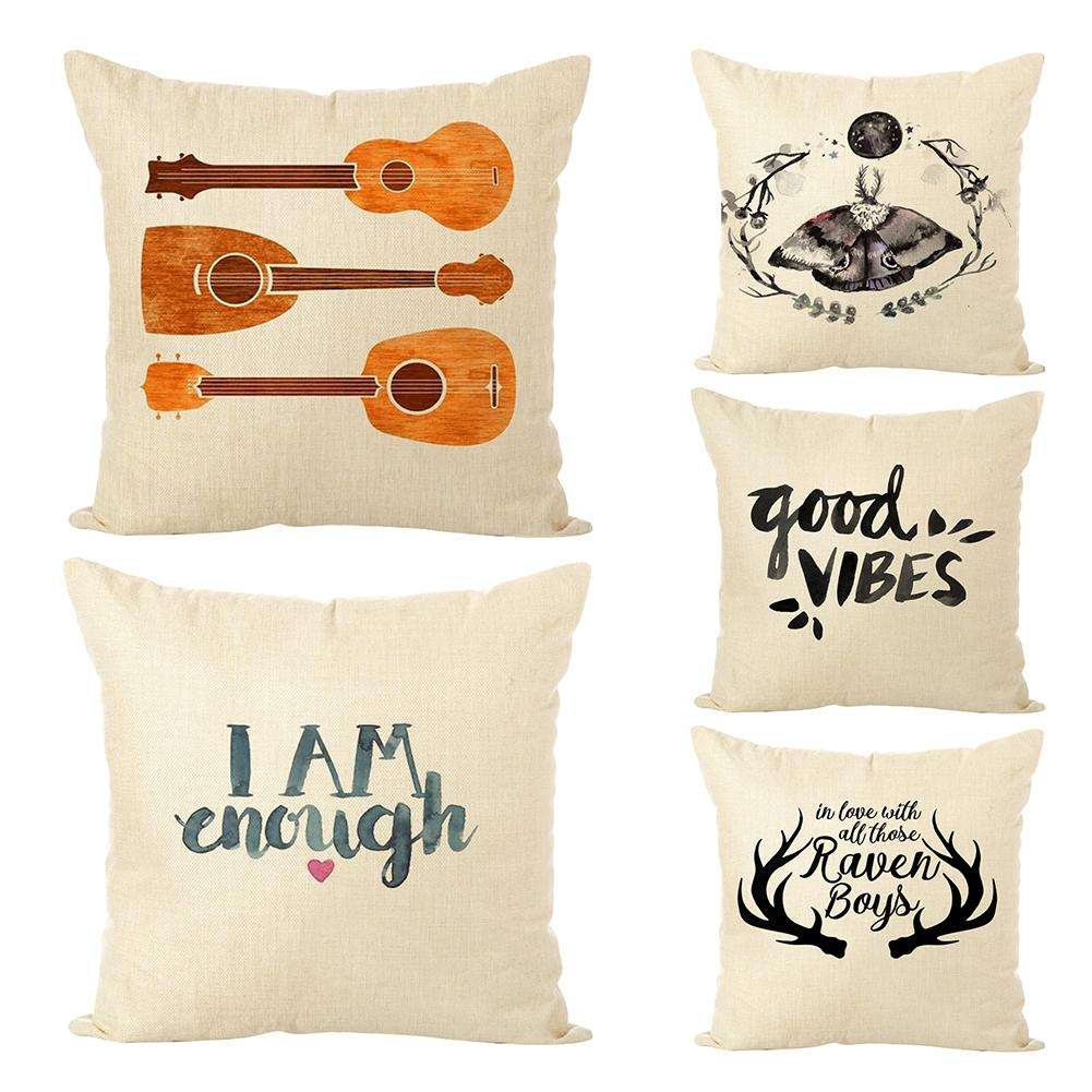Abstract Pattern Words Pillow Case Cushion Cover Car Home Cafe Sofa Decoration New