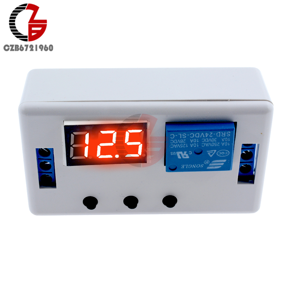 цена на DC 24V Time Delay Relay Module LED Digital Automation Timer Control Switch Timing Relay Module PLC Trigger Switch Voltage Signal