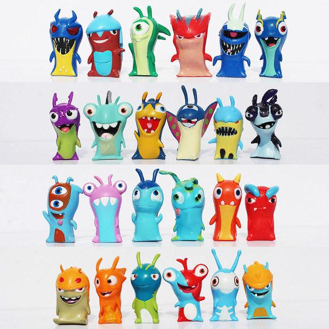 24 יח\סט חמוד קריקטורה Slugterra PVC פעולה איור צעצועי Juguetes מתנה לילדים