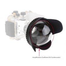 2017 Новая Камера 67 мм 0.7x fisheye широкоугольный объектив Купола Порт (67 мм Раунд) для Подводный водонепроницаемая Дайвинг Корпус сумка