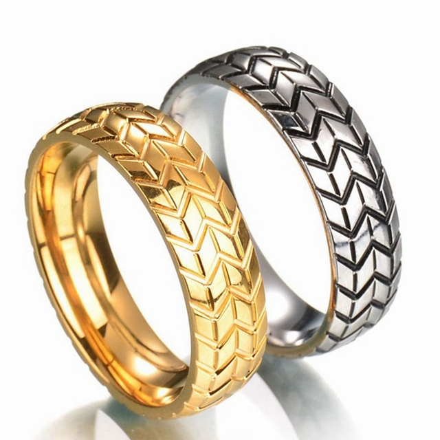 09a892350f New Mode Personality Simple Stainless Steel Titanium Steel Rings For Men  and Women Gold Color High Quality 3D Solid Fashion Ring