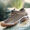 Nuevos Hombres de Malla de Aire de Moda High Top Zapatos Unisex Con Mujeres Respirables de Plataforma plana Zapatos Casuales Zapatos de Los Hombres Más Tamaño 38-44