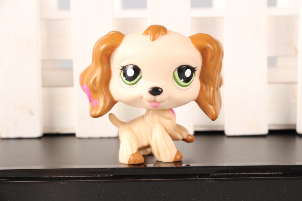 New Pet Collection Figure LPS 1963 Pink Hearts Cream Cocker Spaniel Dog Puppy Kids font b