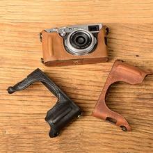 [VR] Real Leather-based Digital camera Case Digital camera Half Bag Handmade Cowl Open battery design For FujiFilm X100F Fuji x100f  X100-F