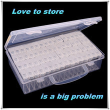 Diamond embroidery diamond painting tool! 64 lattice, transparent plastic storage box, 64 Grid jewelry Drill Storage Box nail drawing toys lcd writing tablet erase drawing tablet 4 4 inch electronic paperless lcd handwriting pad baby early educational to