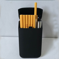 USB lighter cigarette case for 20 cigarettes with 100mm length and 5mm diameter