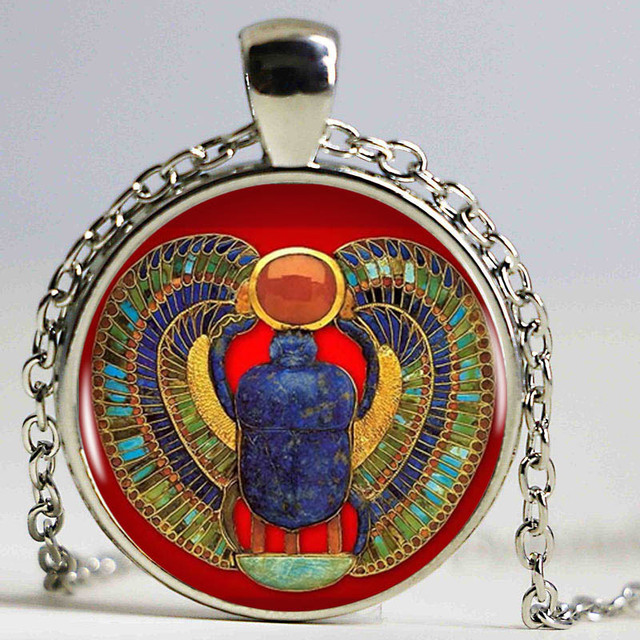 9cd68c4a9b9d 2016 moda collar Escarabajo egipcio
