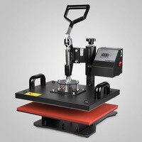 VEVOR завод 5 в 1 цифровой термопресс машина Сублимация для футболки/кружки/плиты шляпа принтер