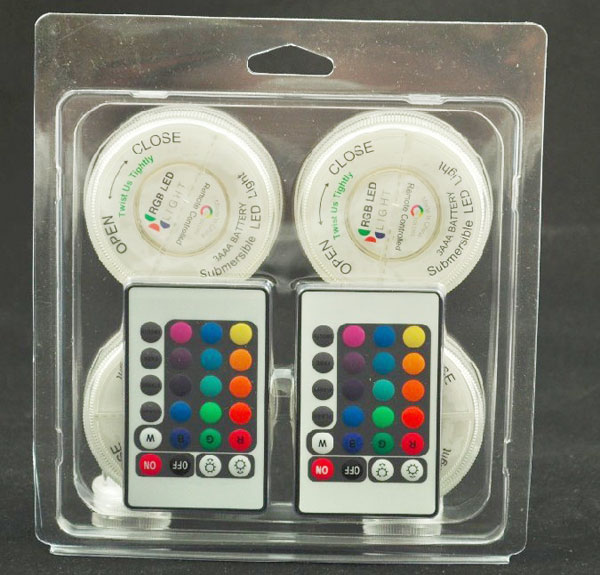 할로윈 장식 무료 배송 1pack 4pcs Aa 배터리 운영 Rgb Led 기본 빛 + 2pcs 웨딩 장식 원격 제어