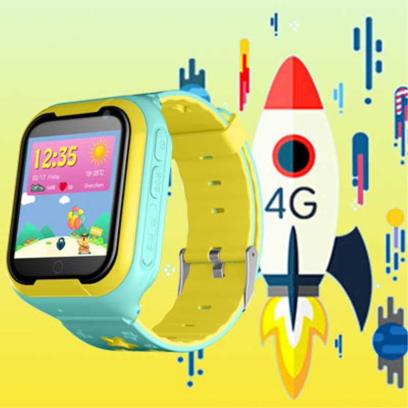"""Kids Smart watch 4G Children watches GPS Tracker LBS WIFI location SOS call Android 4.2 Pedometer Camera 1.4""""HD Smart clock M05"""