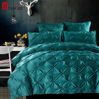 New Luxury Bedding Set 100% Cotone Verde Tessili per la casa Raso di Seta Lavata 4 Pz/6 Pz Regina/Re dimensioni Coperte Biancheria da Letto Copripiumino