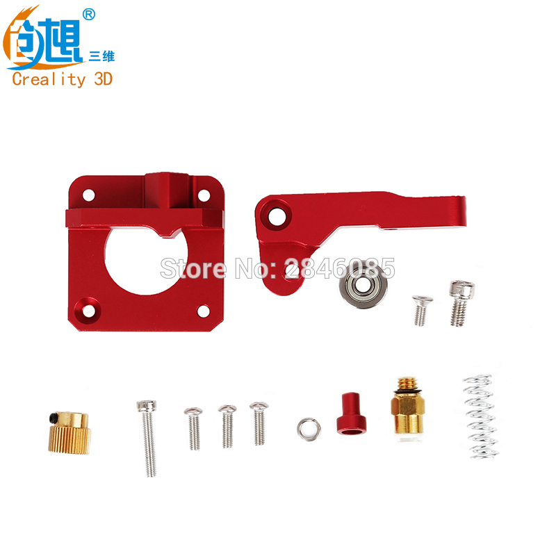 cr-10 3D Printer Parts MK8 Extruder Aluminum Alloy Block bowden extruder 1.75mm Filament for creality 3d CR-7 CR-8 CR-10 parts 3d printer accessory aluminium alloy for reprap bowden extruder parts for1 75mm filament 0 4mm nozzle