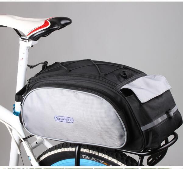 Лидер продаж ROSWHEEL сумки 13L Велоспорт сумка для велосипеда сзади сумки для багажника Багажник плеча сумочку черный/синий 2019 Новый стиль