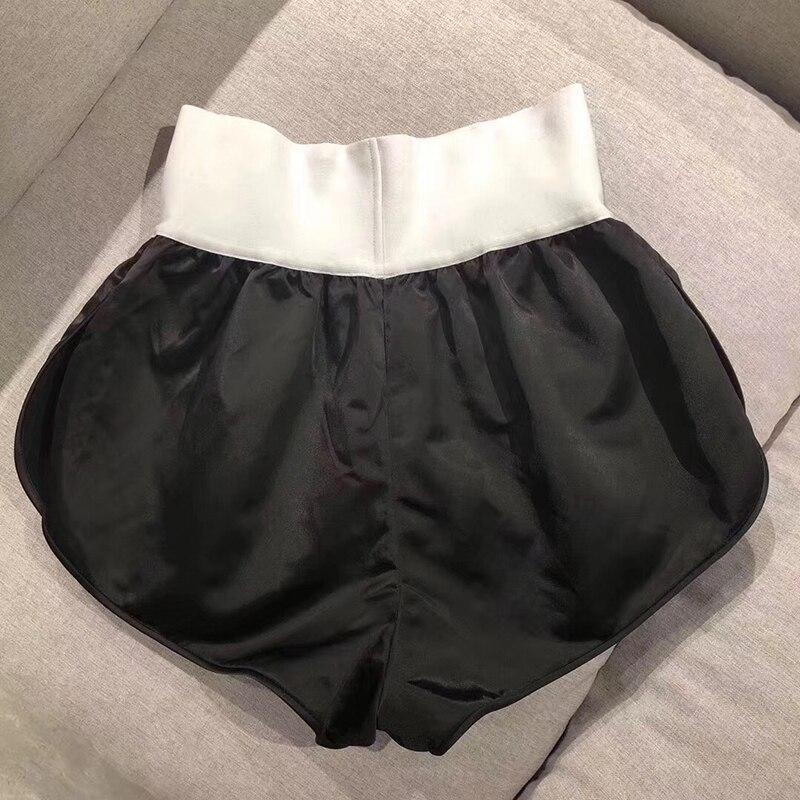 Для женщин пикантные Короткие штаны Мода 2019 г. бренд горячие брюки для девочек высокое качество повседневное шелк короткие