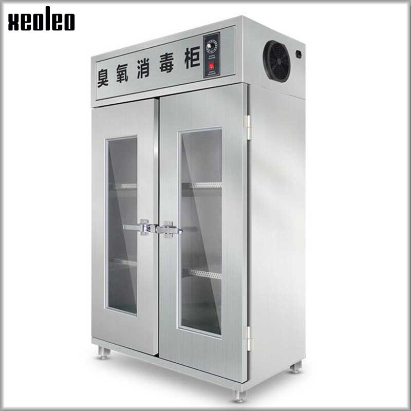 XEOLEO Cosmetic Disinfection Cabinet Professional Ozone Disinfection Machine Stainless Steel Double Doors Disinfecting Nail Tool