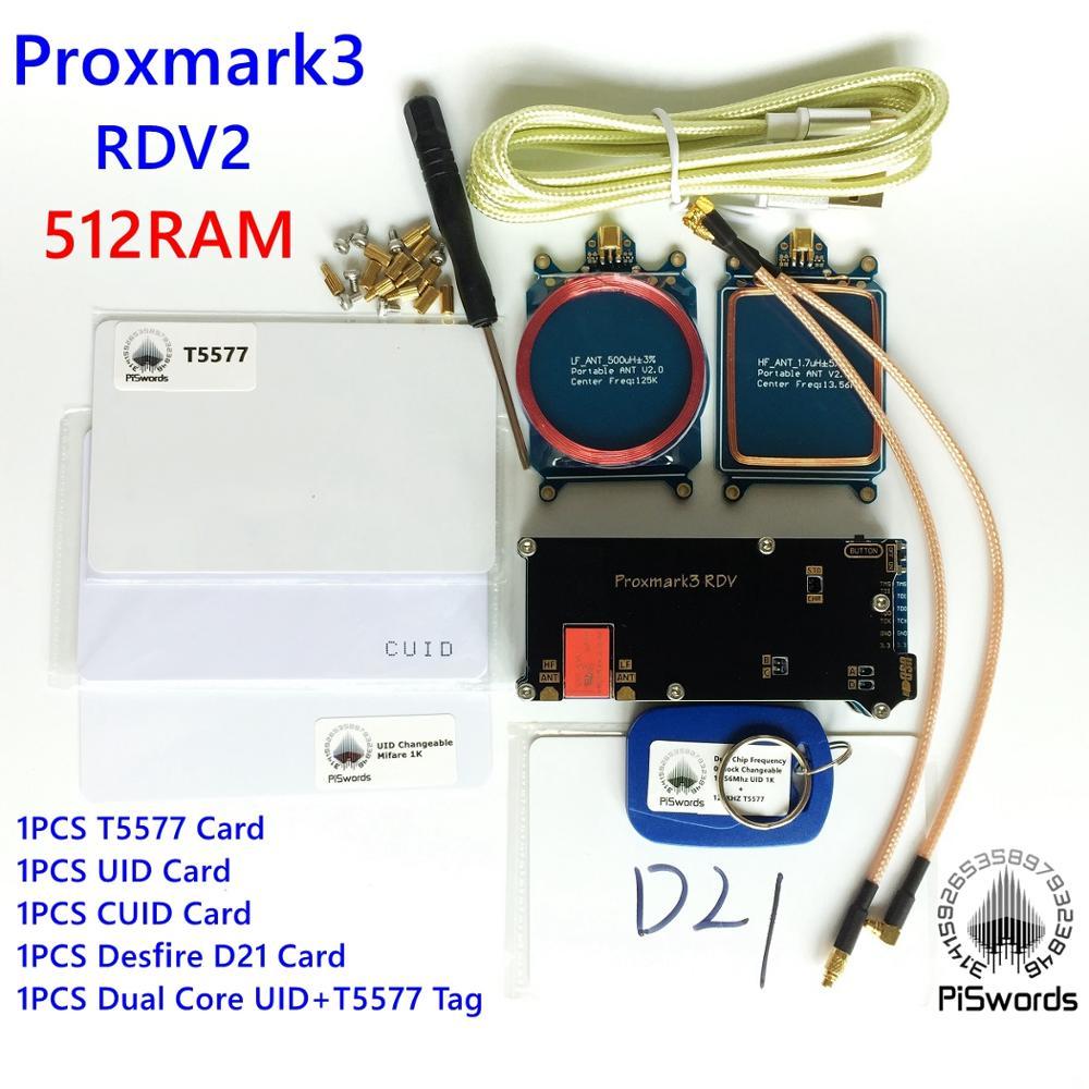 proxmark3 REV2 0 Kits proxmark NFC RFID reader writer HF LF antenna J2A040 CARD UID T5577