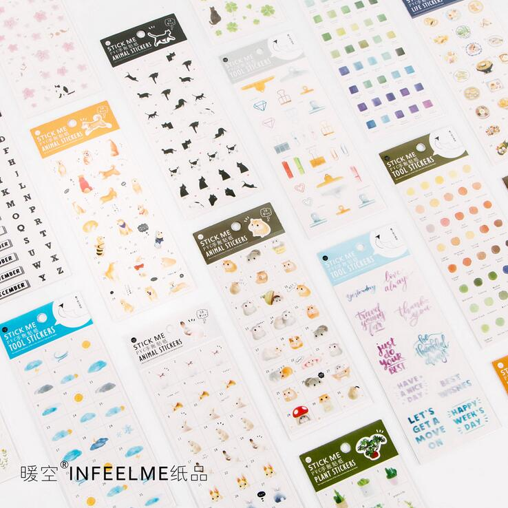 Creative Diary Cartoon Japanese Decorative Sticker Diary Album Label Sticker DIY Scrapbooking Stationery Stickers Escolar