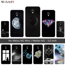 5.0 inch for Meizu M2 Mini Case Soft TPU Silicone Back Black