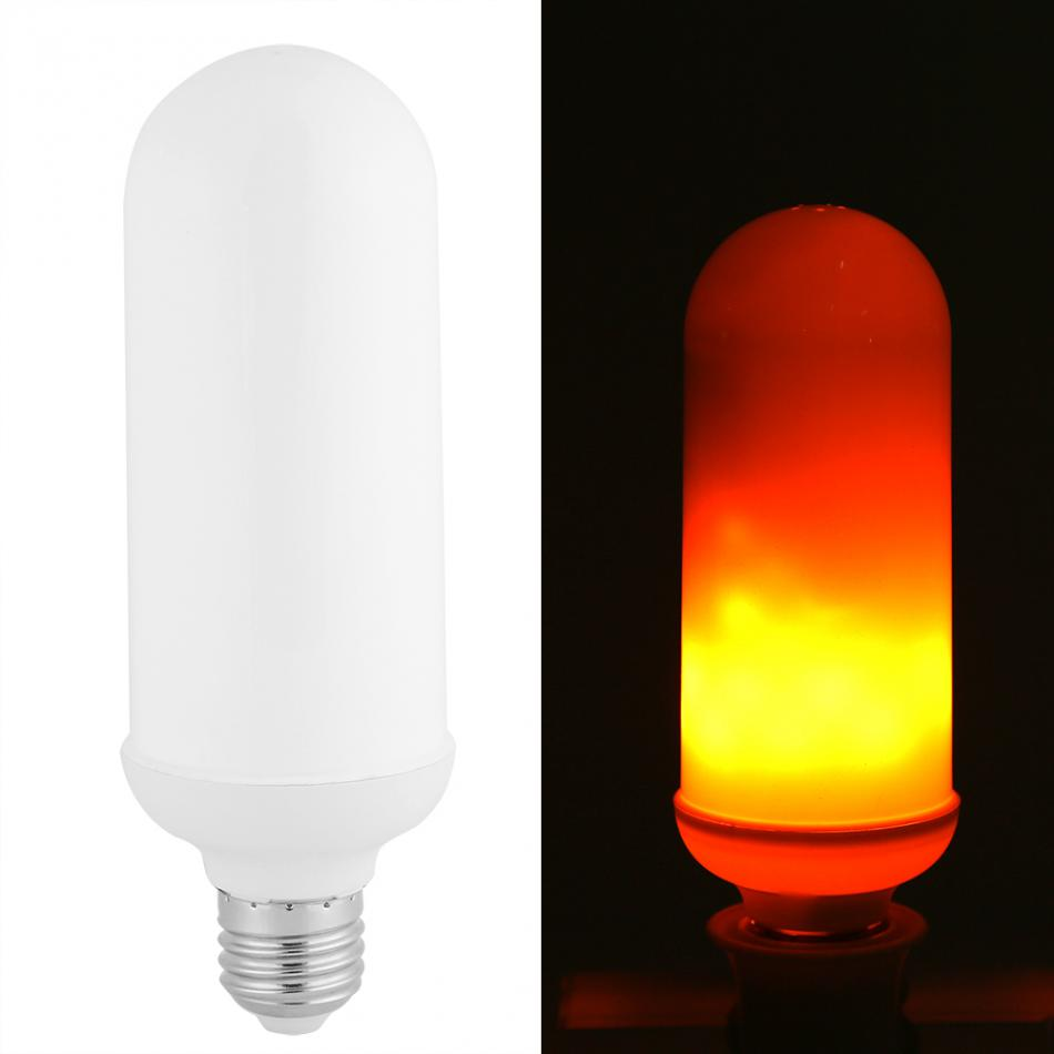 3W E27 LED Flame Lamps Fire Effect Light Bulb 2835SMD 85 LED Lamp Bulb with Flickering Effect LEDs Bulb