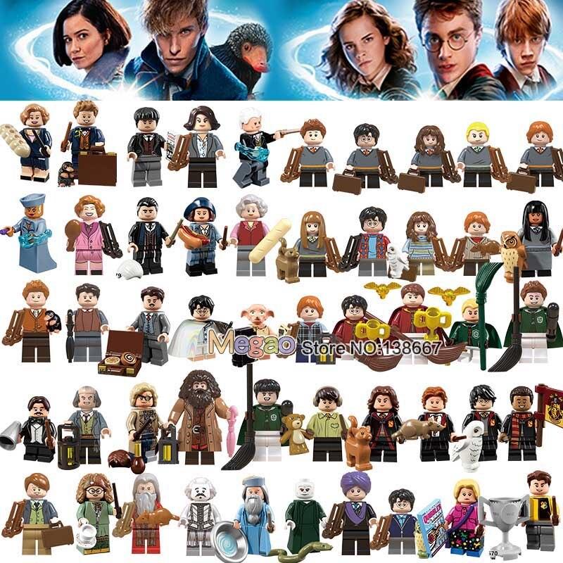 50PCS SET potter s Building Block Dobby Luna Lovegood Neville Longbottom Trelawney Filch Moody Kids toy