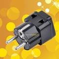 1 a 2 divisor Universal reino unido / eua / EU / AU 3 Pins / 2 Pins soquete para alemanha frança 5 mm 2 pino Travel Plug Power Adapter