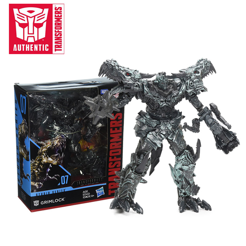 22CM Transformers Toys Studio Series Age of Extinction 07 Grimlock 08 Decepticon Blackout PVC Action Figures Collectible Model лонгслив printio ken street fighter