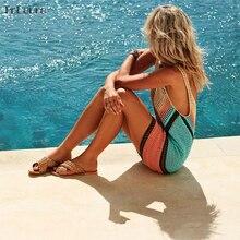 2019 New Sexy Beach Cover Up Bikini Crochet Knitted Swimwear Summer Beach Wear Hollow Out Swimsuit Cover Up Beach Dresses