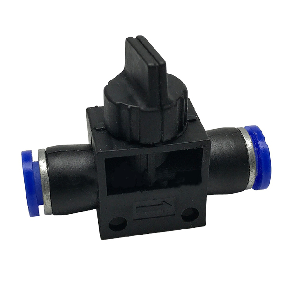 4/6/8/10/12mm OD Tube Push In Quick Connector Ball Valve Hand Shut Off Pneumatic Air Fitting