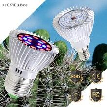 Grow Lamp LED E27 Full Spectrum Plant Light E14 Led Growing Bulb 220V Fito Lampe Led 18W Indoor Grow Tent 110V Hydroponic System цена и фото
