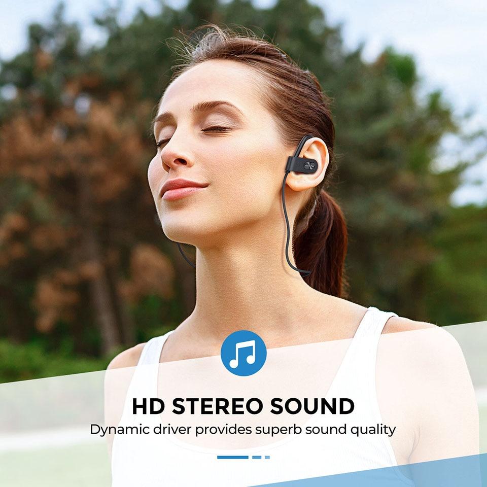 Mpow Flame 2 Bluetooth 5.0 Earphone IPX7 Waterproof Wireless Headphone With 13 Hours Playtime Noise Canceling Mic Sport Earphone (1)