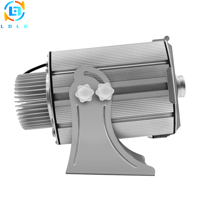 Newest Aluminum Alloy Silver Outdoor Advertising Four Eight Images 40W 80W LED Gobo Projector 10000Lm LED Images Logo Projector