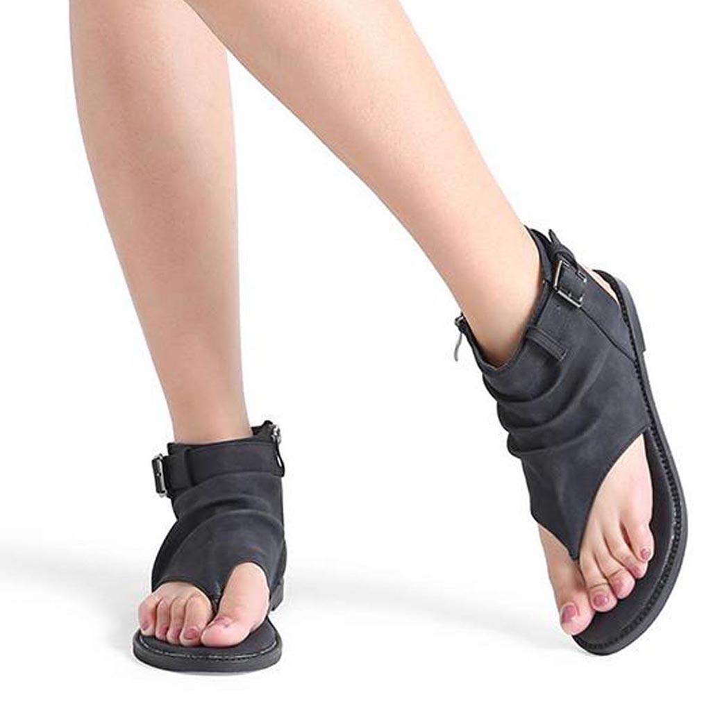 Zipper Sandale Orteil Marron Chaussures Sandales Troupeau Femme Clip PnO0wk8