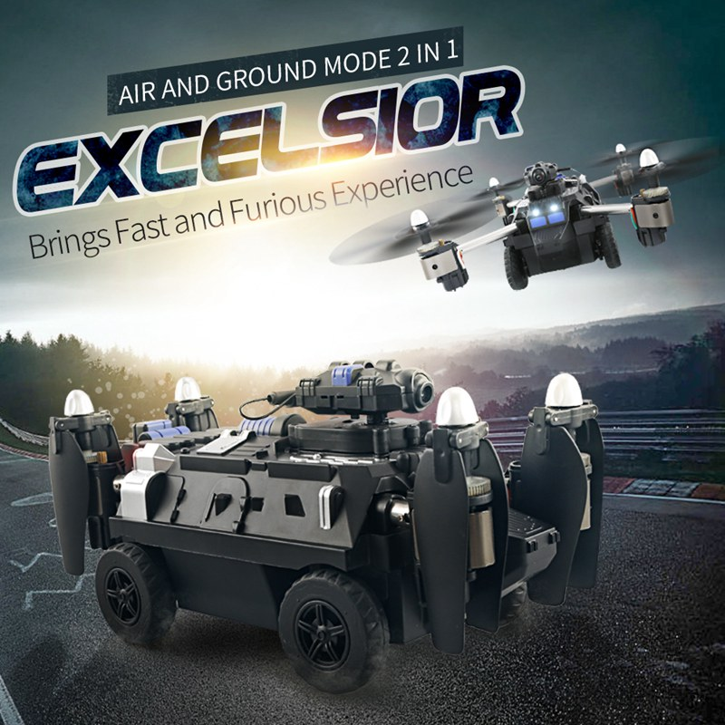 Jjrc Hybrid Tank Drone With Camera Wifi Tank Fpv Quadcopter Rc Drones Rc Helicopter Foldable Dron Remote Control Toy Racing Car rc drone u818a updated version dron jjrc u819a remote control helicopter quadcopter 6 axis gyro wifi fpv hd camera vs x400 x5sw