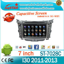 For pure android 4.4 4-core Capacitive Touch Screen Hyundai I30 2011-2013 Car DVD player GPS with GPS+IPOD+BT+Radio+AUX IN+DVR