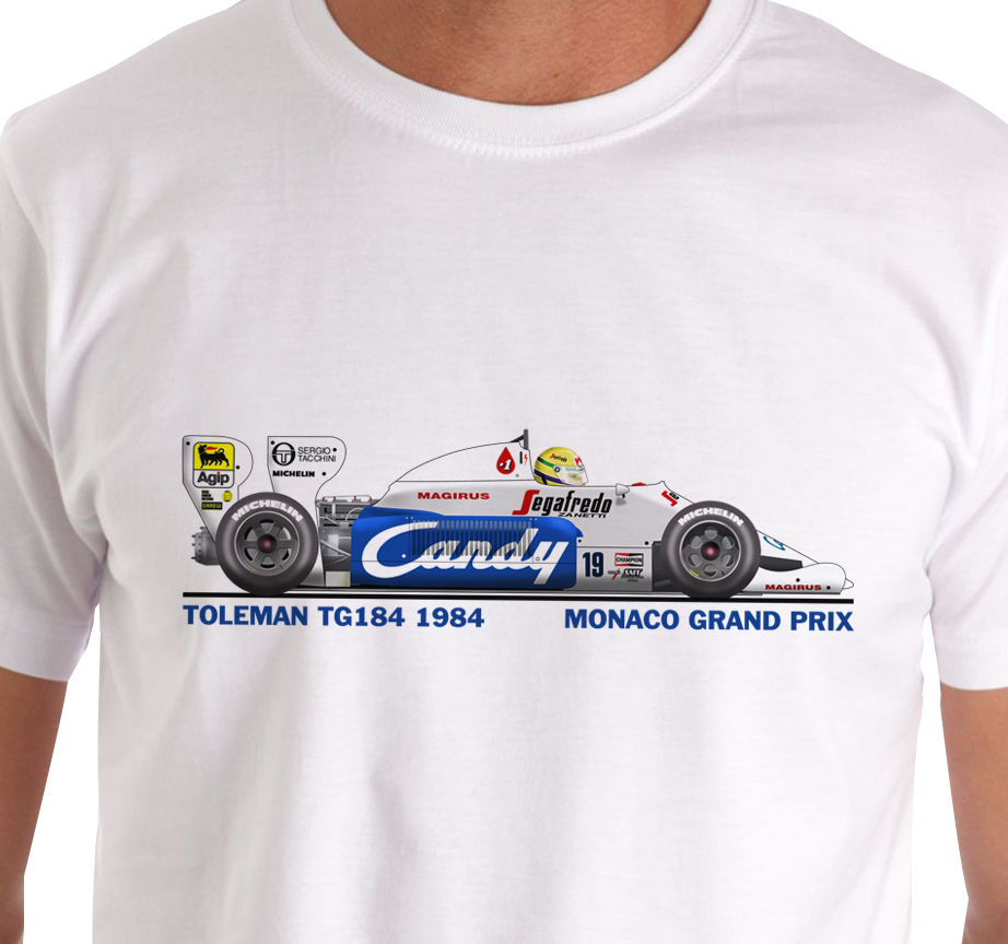 2019 Hot Sale 100% Raceart - Toleman TG184 1984 Monaco T-Shirt (Senna) Summer Style Tee Shirt