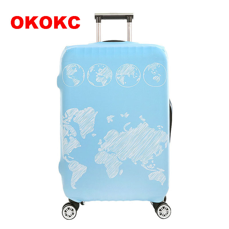 OKOKC Global World Thickest Travel Luggage Suitcase Protective Cover for Trunk Apply to 18''-32'' Suitcase Cover Elastic