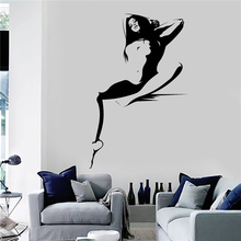 Vinyl Wall decal Hot Sexy Woman Girl Adult Decor Stickers Art Decor Home Decor Wall Sticker U397 cheap For Cabinet Stove For Wall Switch Panel Stickers For Refrigerator Furniture Stickers Floor Stickers Toilet Stickers For Smoke Exhaust