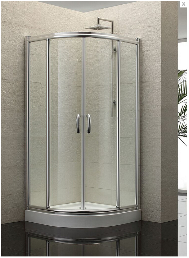 2017 new design wholesale shower cabins clear tempered glass shower screen shower enclosure with sliding door AXB1000S 8 shower rooms cabins pulley