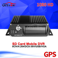 GPS SD 8CH Vehicle Mobile Dvr Free Shipping G sensor Video Playback Record GPS Track Looping Recording SD Mdvr For Bus Taxi Van