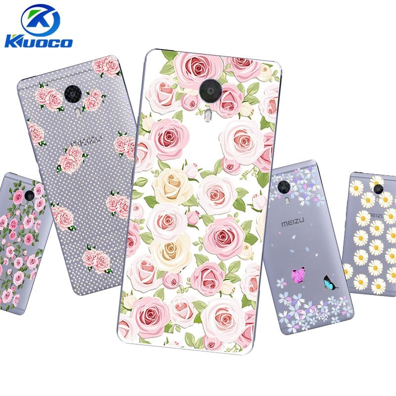 Custom DIY Phone Case for Meizu U10 Shell for Meizu MX6 Pro Coque for Meizu M3 MAX Cover for M3X Soft TPU Flowers Printing