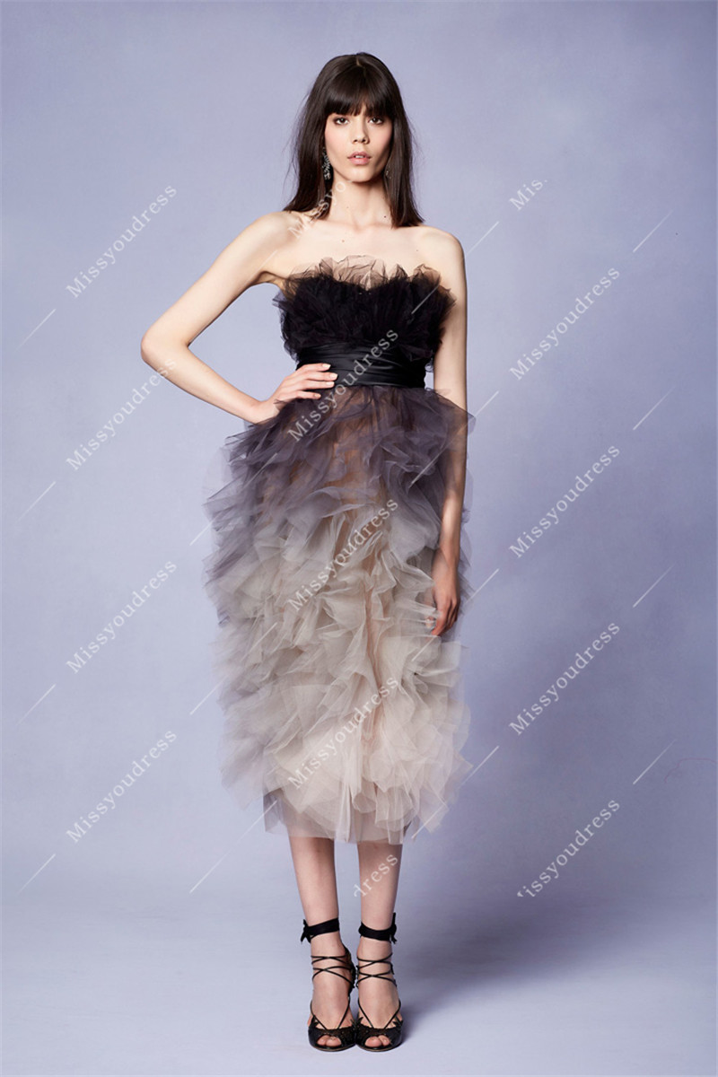 2019 New Customized Dress Red Carpet Banquet Suspender Luxurious Feather Bird Decoration Dress Lace Dress